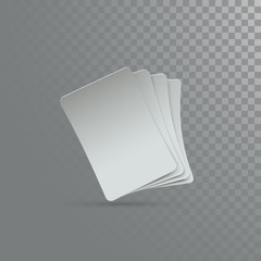 Four playing cards mockup.
