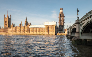 Palace of Westminster under renovation