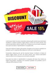 Discount New Offer Sale 15 Percent, Sticker Cart