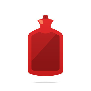Hot water bag vector isolated