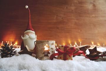 Weihnachten Hintergrund - Weihnachtsgeschenk mit Herzchen