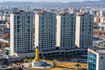 Cityscape of Ulaanbaatar the capital city of Mongolia