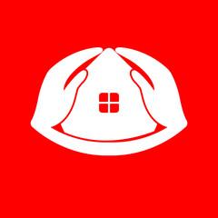 Vector House Care Hand Logo design template.