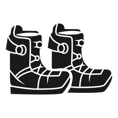 Ski boots icon. Simple illustration of ski boots vector icon for web design isolated on white background