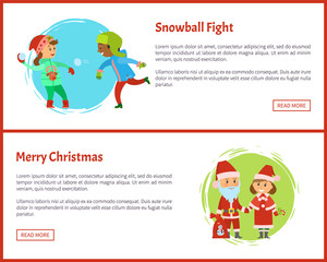 Snowball Fights and Merry Christmas Characters