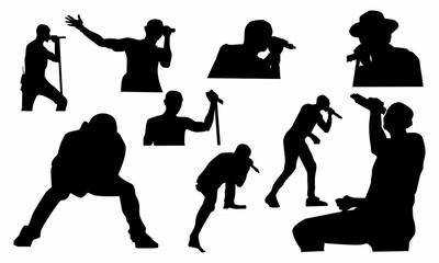 set of singer silhouette