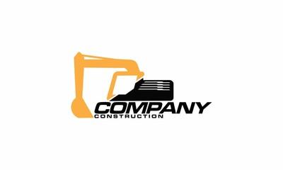 Excavator logo designs template vector illustration - Vector