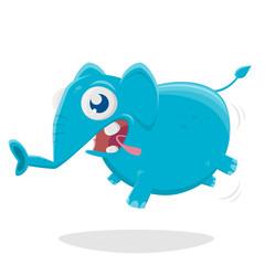 funny cartoon illustration of a funny elephant