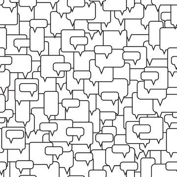 Speech bubbles seamless pattern.