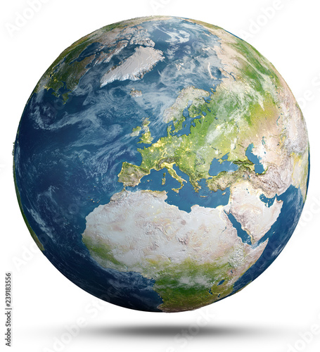 Wall mural Planet Earth concept. 3d rendering