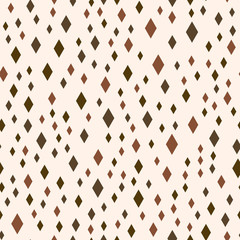 Seamless vector EPS 10 Abstract geometric pattern with rhombus. Multicolor Figures. Texture for print and Banner. Flat style