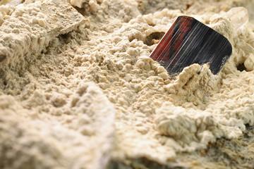 brookite from Zard Mountains, Kharan, Baluchistan nestled in matrix
