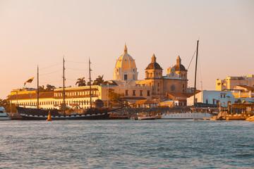 Cartagena de Indias Colombia at sunset