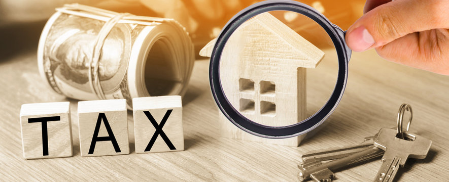 """Concept of property taxes, purchase and sale of property and house. inscription """"tax"""". Declaration of the income of a physical person. Income to the budget. Payment of taxes to the state."""