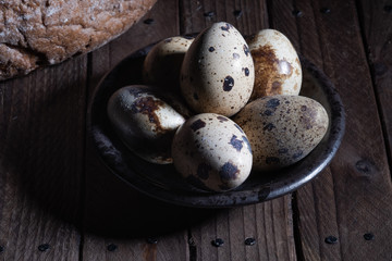 A bunch of quail eggs