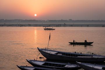 Varanasi al atardecer, India.