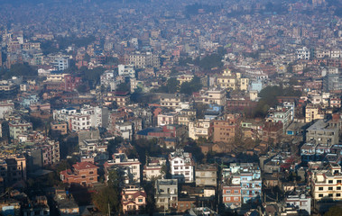 Aerial view of Kathmandu city, Nepal