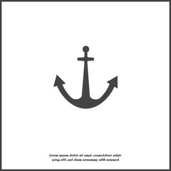 Ship's anchor vector icon. Anchor vector illustration on white isolated background. Layers grouped for easy editing illustration. For your design.