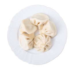 Delicious dumplings with beef meat.