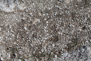 Rocky surface of the earth.