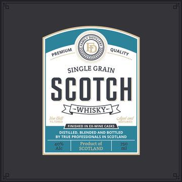 Scotch whisky label template
