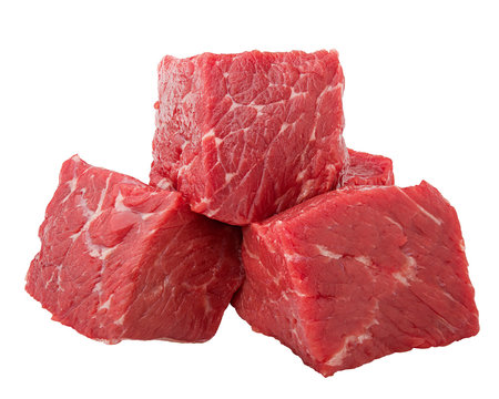 meat, beef, isolated on white background, clipping path, full depth of field