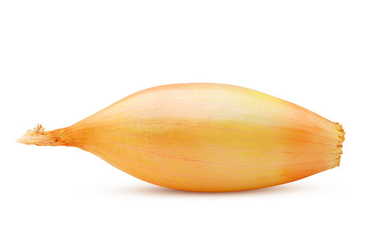 onion, shallot, isolated on white background, clipping path, full depth of field