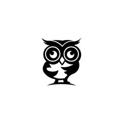 cartoon owl with sunglasses - inspiration owl Vector