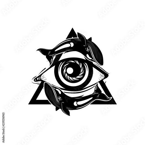 Vector Hand Drawn Illustration Hand Drawn Eye Of Providence