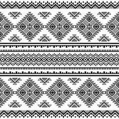 Ethnic seamless monochrome pattern.