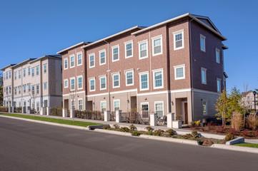 Row of condominiums in Wilsonville Oregon.
