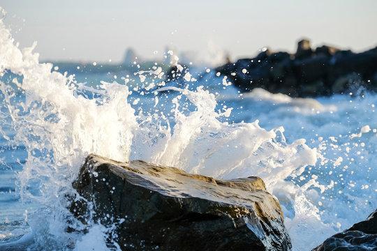 Colorful sea waves splash 7