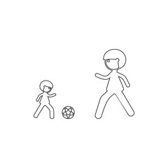 father and son game icon. Element of Family for mobile concept and web apps icon. Thin line icon for website design and development, app development