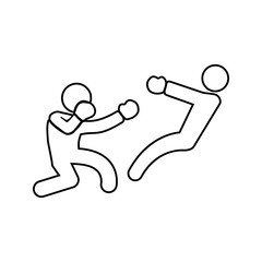 boxer knockdown icon. Element of Fight for mobile concept and web apps icon. Thin line icon for website design and development, app development