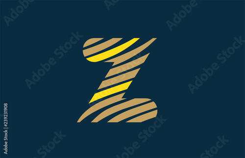 alphabet letter z logo icon design typography