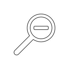 magnifying glass reduce icon. Element of web for mobile concept and web apps icon. Thin line icon for website design and development, app development