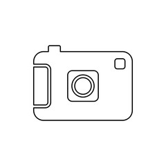 camera icon. Element of web for mobile concept and web apps icon. Thin line icon for website design and development, app development