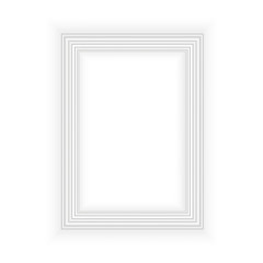 Realistic black frame isolated on white background. Perfect for your presentations. Vector illustration.
