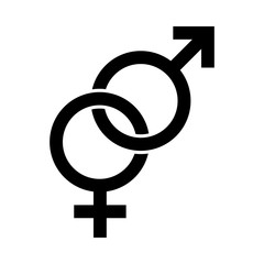 Male and Female symbol. Women and Man heterosexual sign. Venus and Mars icon
