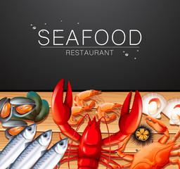 Seafood on restaurant template
