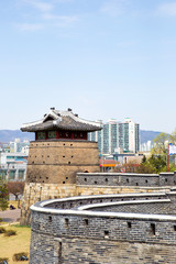 Suwon Hwaseong Fortress is a fortress wall during the Joseon Dynasty and is a World Heritage Site owned by Korea.