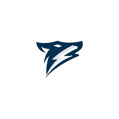 Creative Thunder Fox Logo-Symbol