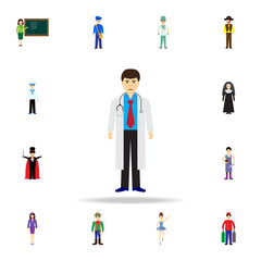 doctor cartoon icon. Detailed set of color profession icons. Premium graphic design. One of the collection icons for websites, web design, mobile app