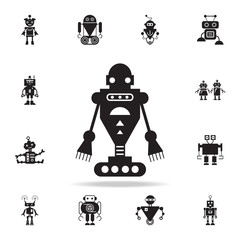 evil robot icon. Detailed set of robot icons. Premium graphic design. One of the collection icons for websites, web design, mobile app