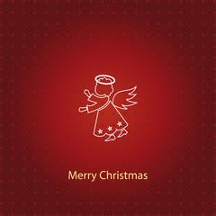 angel icon. christmas angel line icon