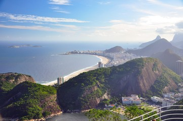 View of beaches in Brazil from Sugarloaf mountain