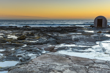 Newcastle Baths Pump House and Sunrise Seascape