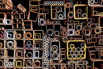 A pile of pipes.