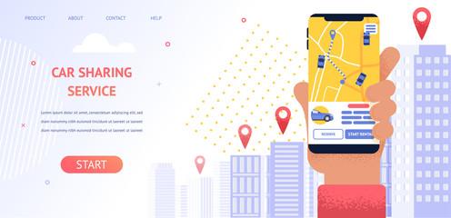 Banner Illustration Navigation Location Rental Car