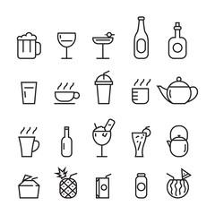 icon beverage, vector